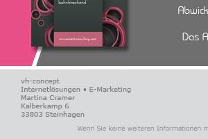 Angebot: Anzeigengestaltung