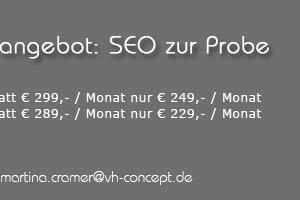 Angebot: SEO - Suchmaschinenoptimierung