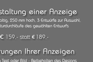 Angebot: Gestaltung von Werbeanzeigen