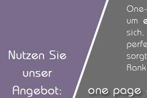 Angebot: Landing Page - One Page