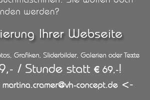 Angebot: Webseiten-Aktualisierung