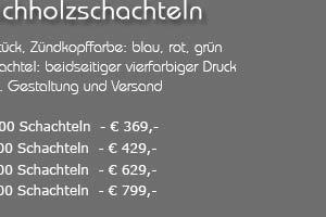 Angebot: Streichhölzer